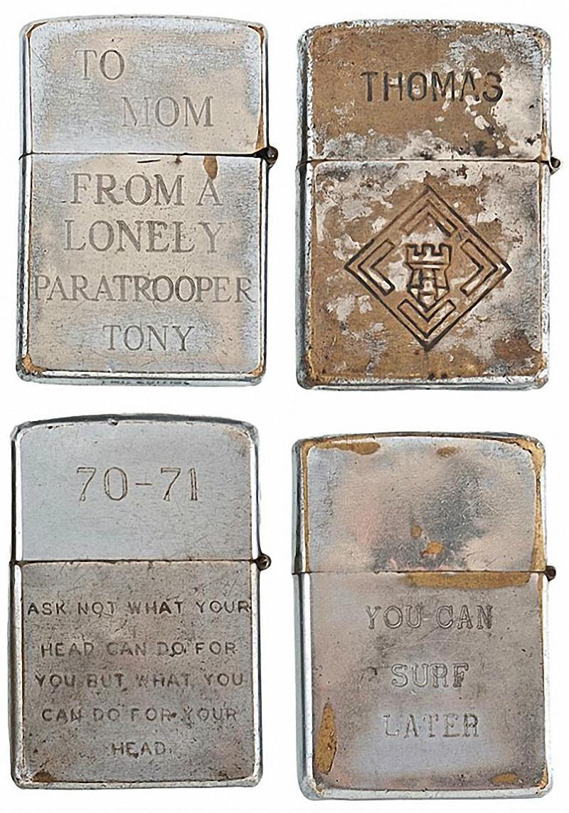 Коллекция солдатских зажигалок Zippo (2)