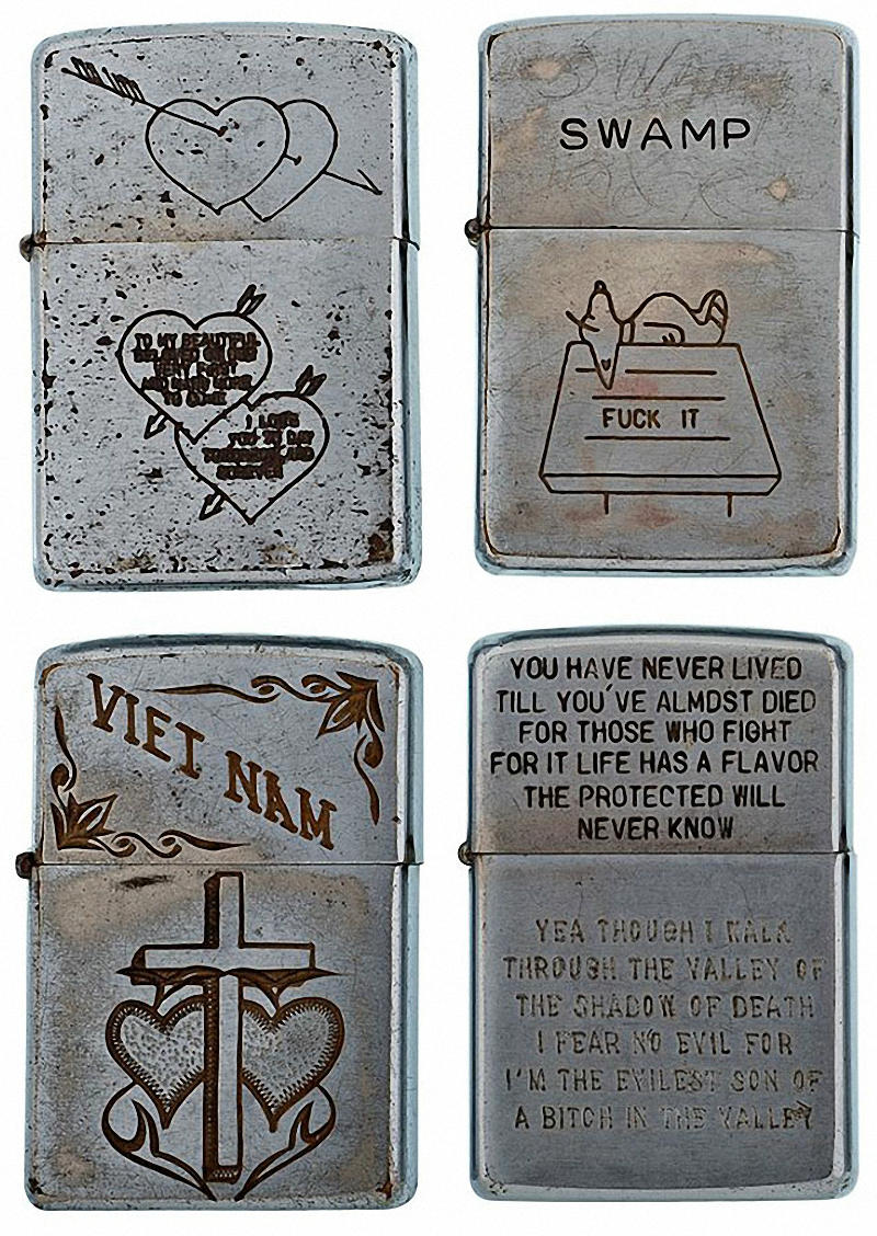 Коллекция солдатских зажигалок Zippo (3)