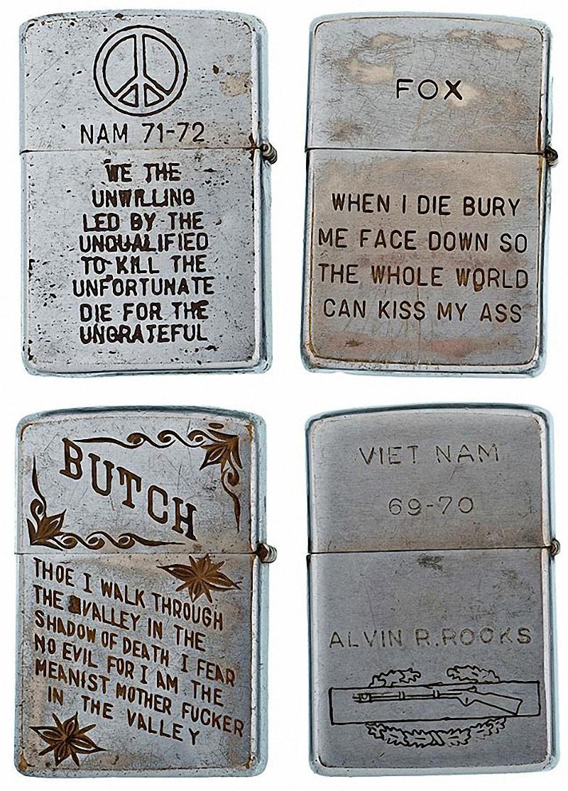 Коллекция солдатских зажигалок Zippo (6)