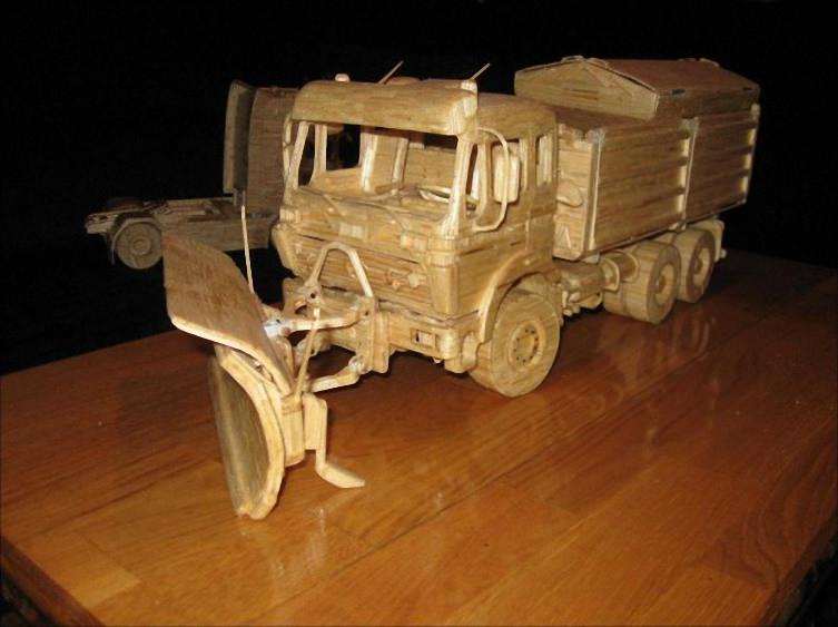 Машины из спичек (10)
