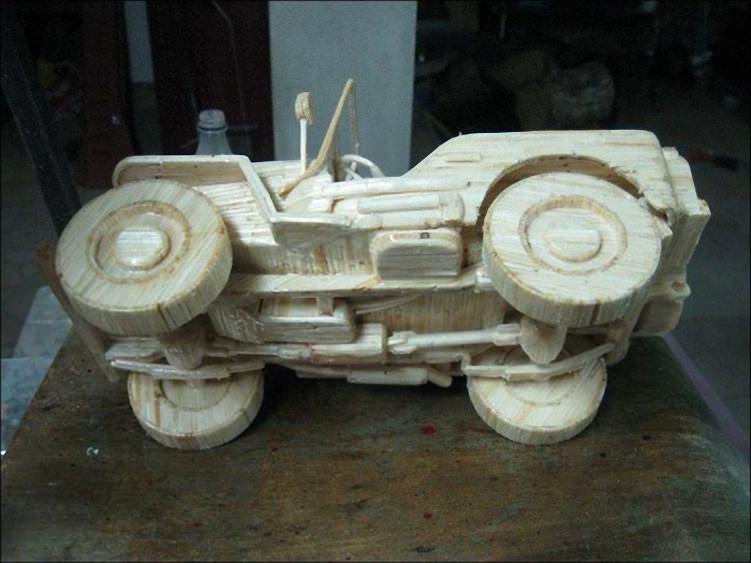 Машины из спичек (6)