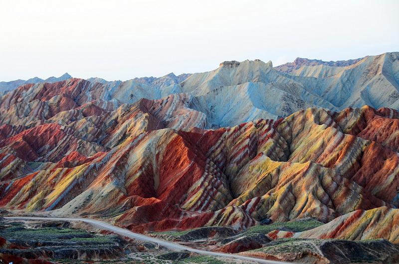 Красные скалы Чжанъе Данксиа (11)