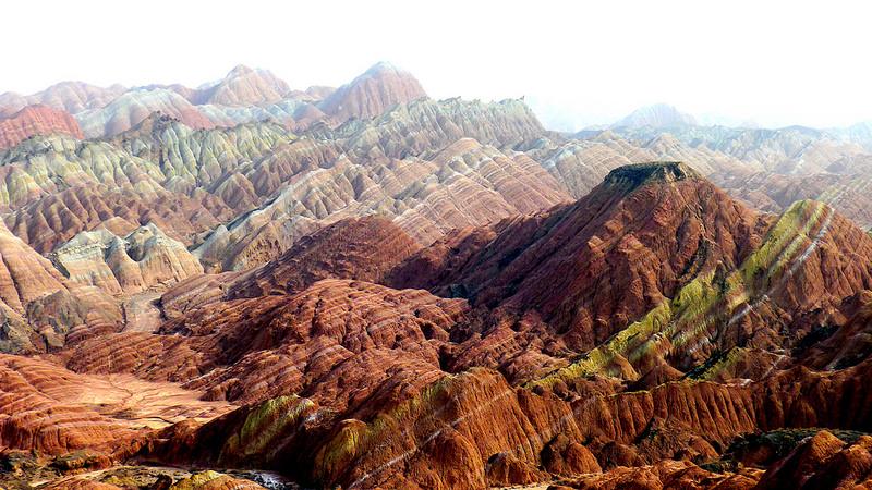 Красные скалы Чжанъе Данксиа (6)