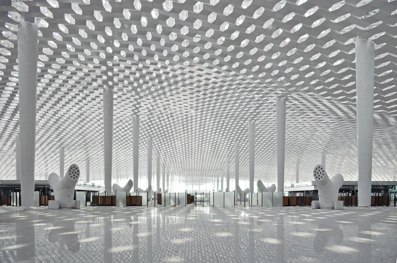 Удивительный терминал международного аэропорта Шэньчжэнь (22)