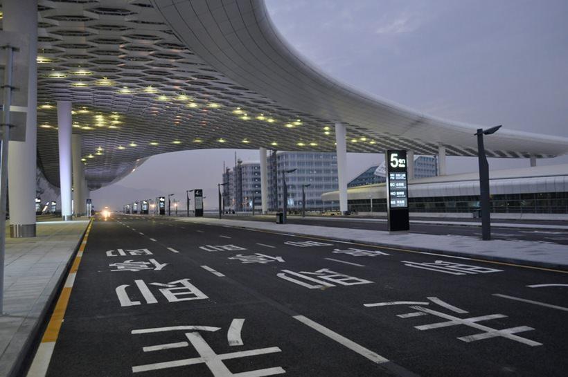 Удивительный терминал международного аэропорта Шэньчжэнь (9)