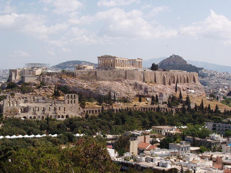 Афинский акрополь фото
