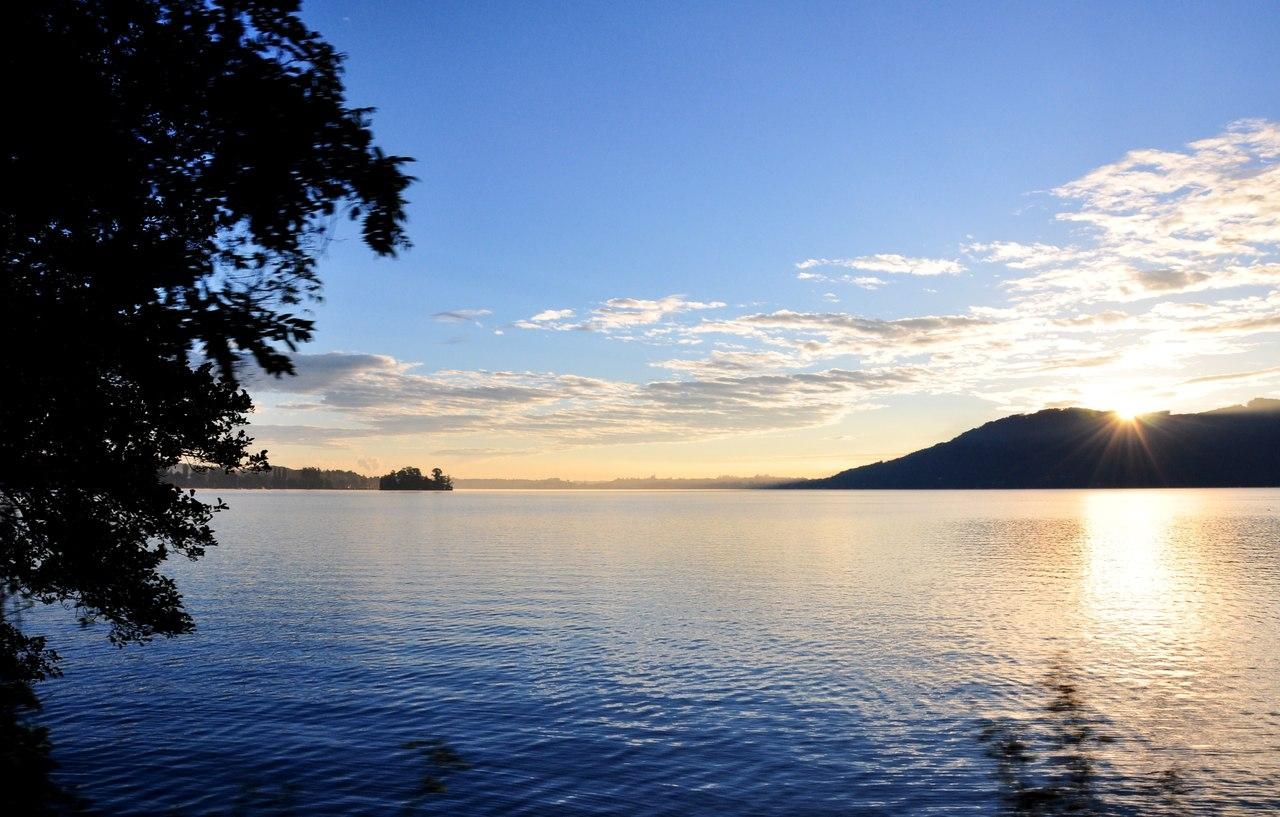 Утро на озере Аттерзее, Австрия