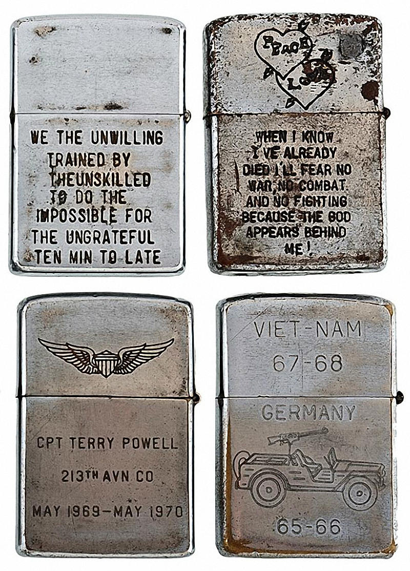Коллекция солдатских зажигалок Zippo (10)