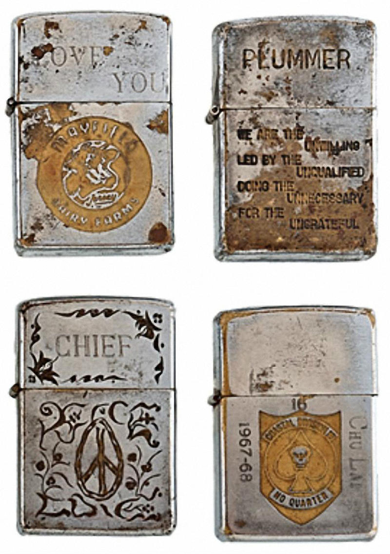 Коллекция солдатских зажигалок Zippo (11)