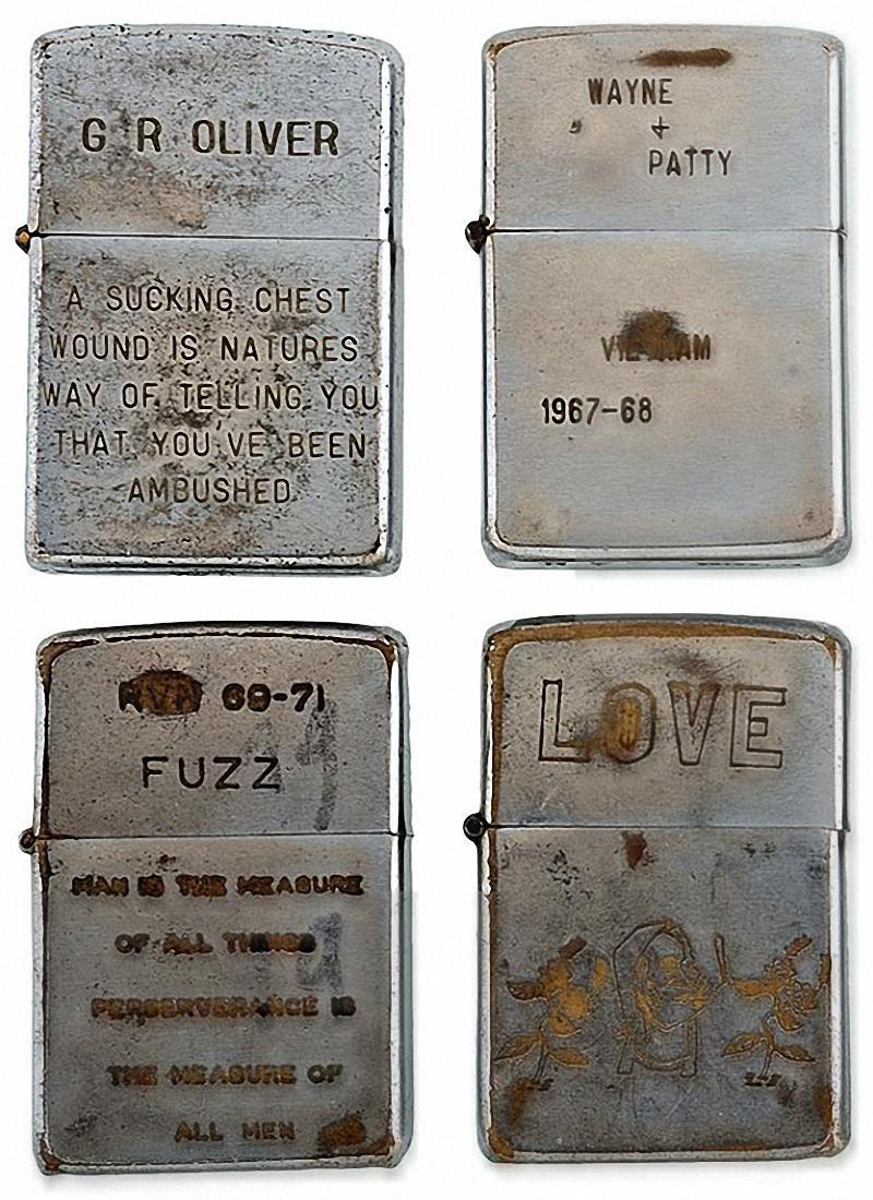 Коллекция солдатских зажигалок Zippo (13)