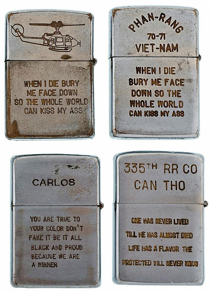 Коллекция солдатских зажигалок Zippo (14)