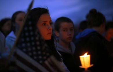 Дань памяти жертв бостонского марафона (1)