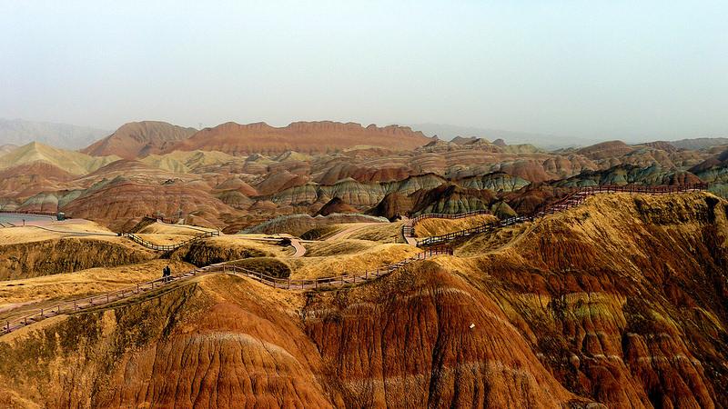Красные скалы Чжанъе Данксиа (12)