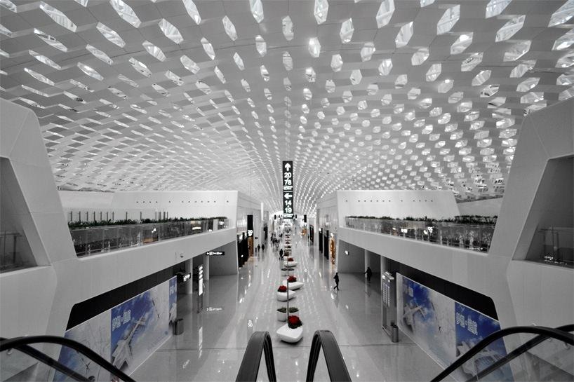 Удивительный терминал международного аэропорта Шэньчжэнь (13)